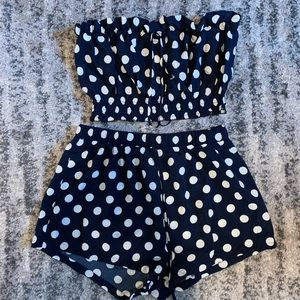 2 piece SHEIN polka dot set